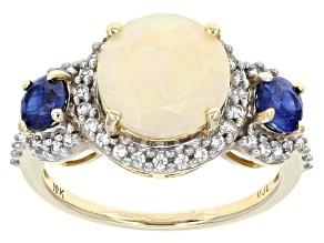 White Ethiopian Opal 10k Yellow Gold Ring 1.85ctw