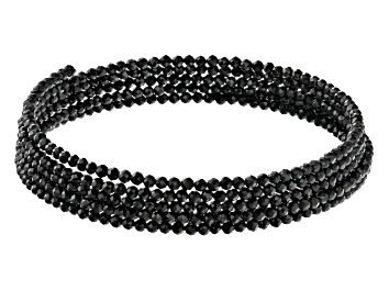 Picture of Round Black Spinel Wrap Bead Bracelet