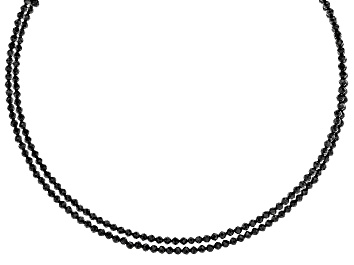 Picture of Black Spinel Stainless Steel Wrap Choker Necklace