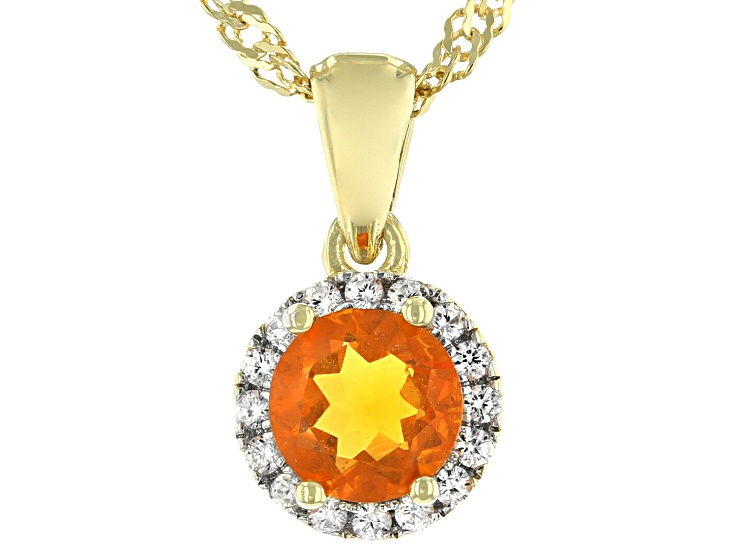 Gemstone Jewelry Mexican Fire Opal White Rhodium Plated 925 Sterling Silver Double Drop Crystal Pendant Necklace #30