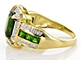 2.82ctw Chrome Diopside Diamond 10kt Yellow Gold Solitaire Ring