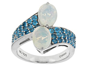 Ethiopian Opal Sterling Silver Bypass Ring 1.67ctw