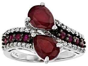 Mahaleo Ruby Sterling Silver Ring 3.79ctw