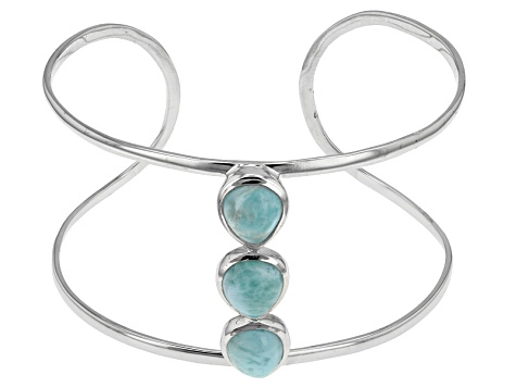 14218f51e Blue Larimar Sterling Silver Cuff Bracelet - OCH187 | JTV.com