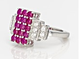 Red Ruby Sterling Silver Ring 1.65ctw