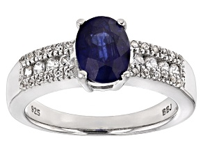 Mahaleo Sapphire Sterling Silver Ring 1.82ctw