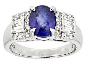 Mahaleo Sapphire Sterling Silver Ring 2.65ctw