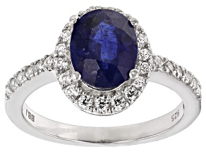 Mahaleo Sapphire Sterling Silver Ring 2.13ctw