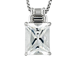 White Danburite And White Zircon Sterling Silver Pendant With Chain 2.19ctw