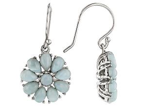 Blue Larimar Sterling Silver Earrings