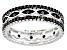 Black Spinel Sterling Silver Eternity Band .78ctw