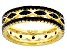 Black spinel 18k yellow gold over sterling silver ring 1.32ctw