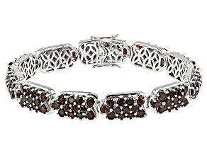 Red Garnet Sterling Silver Bracelet 17.72ctw
