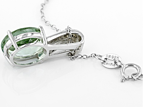 Green Prasiolite Sterling Silver Pendant With Chain 2.67ctw