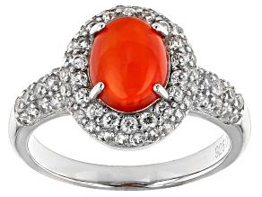 Orange Ethiopian Opal Sterling Silver Ring. 2.60ctw