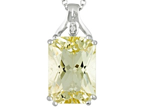 Yellow Labradorite Sterling Silver Pendant With Chain 5.32ctw