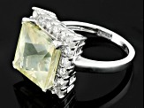 Yellow Mexican Labradorite Sterling Silver Ring 4.50ctw