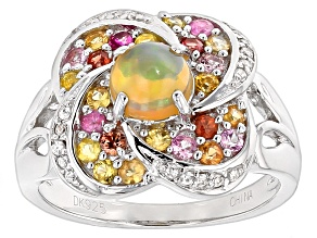 Ethiopian Opal Sterling Silver Ring 1.24ctw