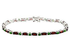 Red Garnet Sterling Silver Bracelet 9.78ctw