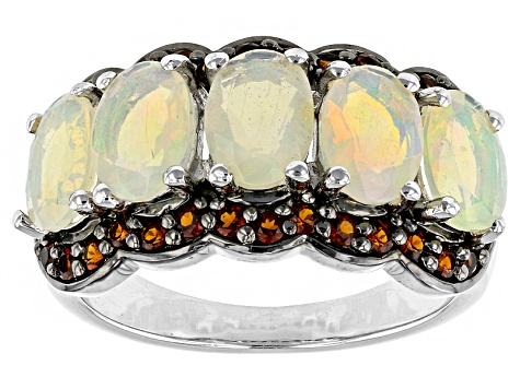 Ethiopian Opal Sterling Silver Ring. 3.14ctw