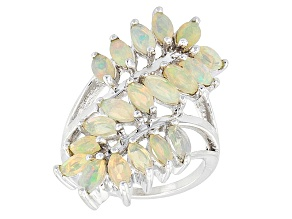 Ethiopian Opal Sterling Silver Bypass Ring 1.85ctw
