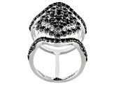 Black Spinel Sterling Silver Ring 1.84ctw