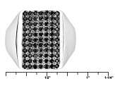 Black Spinel Sterling Silver Ring .65ctw