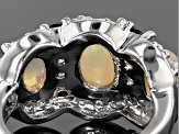 Ethiopian Opal Sterling Silver Ring 2.49ctw