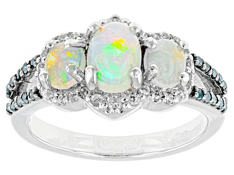 Ethiopian Opal Sterling Silver Ring 1.11ctw