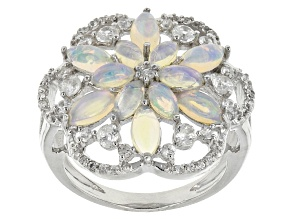 Ethiopian Opal Sterling Silver Ring 2.47ctw