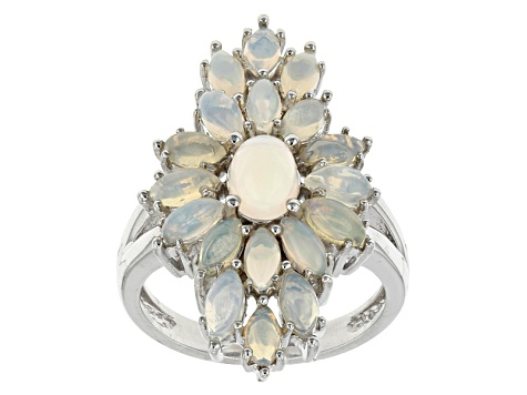 Ethiopian Opal Sterling Silver Ring 2.04ctw