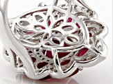Mahaleo Ruby Sterling Silver Ring 7.49ctw
