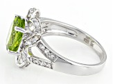 Green Peridot Sterling Silver Ring 2.52ctw