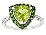 Green Peridot Sterling Silver Ring 2.21ctw