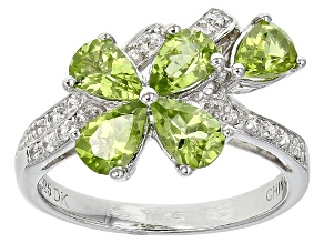 Green Peridot Sterling Silver Ring 1.81ctw