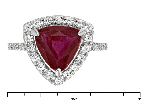 Mahaleo Ruby Sterling Silver Ring. 3.34ctw