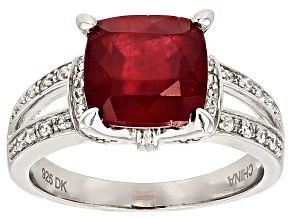 Mahaleo Ruby Sterling Silver Ring 4.02ctw.