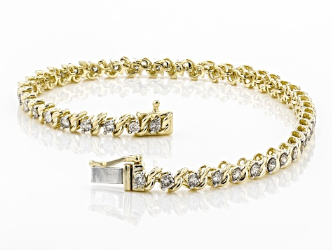 Diamond 10k Yellow Gold Tennis Bracelet 2.00ctw