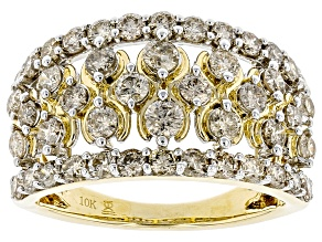 Candlelight Diamonds™ 10k Yellow Gold Wide Band Ring 1.50ctw