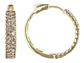 Candlelight Diamonds™ 10k Yellow Gold Hoop Earrings 1.50ctw