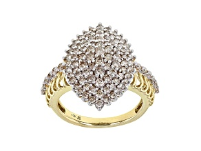Candlelight Diamonds™ 10k Yellow Gold Cluster Ring 1.50ctw
