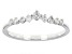 White Diamond 10k White Gold Chevron Band Ring 0.25ctw
