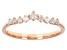 White Diamond 10k Rose Gold Chevron Band Ring 0.25ctw