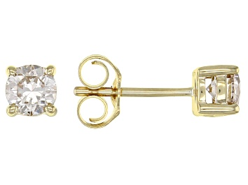 Picture of Diamond 10k Yellow Gold Stud Earrings 0.50ctw