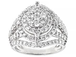 White Diamond 10K White Gold Cocktail Ring 2.00ctw