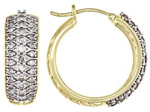 Candlelight Diamonds™ 10k Yellow Gold Hoop Earrings 1.45ctw