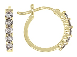 Candlelight Diamonds™ 10k Yellow Gold Huggie Hoop Earrings 0.33ctw