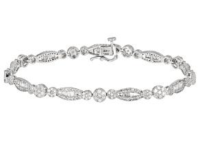 White Diamond 10k White Gold Tennis Bracelet 2.50ctw