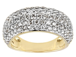 Candlelight Diamonds™ 10k Yellow Gold Wide Band Ring 2.00ctw