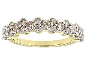 Candlelight Diamonds™ 10k Yellow Gold Band Ring 1.00ctw